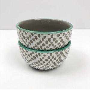 Threshold Polka Dot Decorative Bowls Green Grey